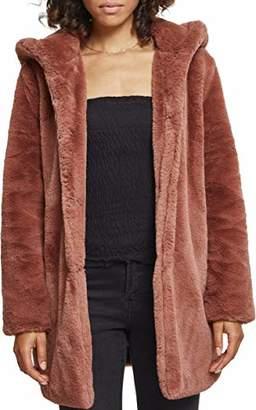 Urban Classic Women's Ladies Hooded Teddy Coat