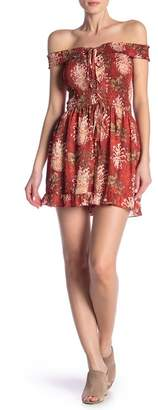 ALLISON NEW YORK Floral Embroidered Lace Romper