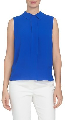 Women's Cece Pleat Front Spread Collar Blouse $69 thestylecure.com