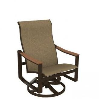 Tropitone Brazo Sling Swivel Action Patio Chair Tropitone