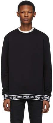 Balmain Black Logo Trim Sweater