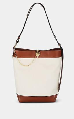 J.W.Anderson Women's Lock Leather-Trimmed Canvas Tote Bag - Neutral