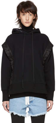 Unravel Black Terry B Open Button Hoodie