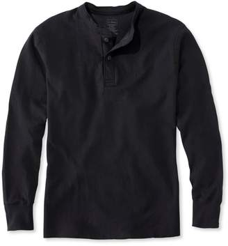 L.L. Bean L.L.Bean Two-Layer River Driver's Shirt, Traditional Fit Henley