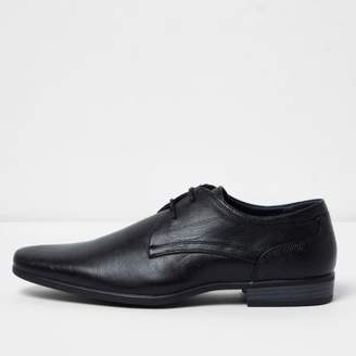 River Island Black pointed formal lace-up shoes