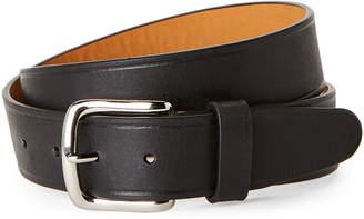 Cole Haan Black Buff Harness Leather Belt