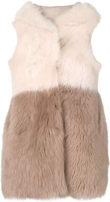 Taranto Liska fur trimmed waistcoat