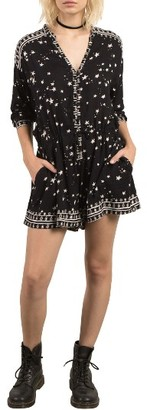 Women's Volcom X Georgia May Jagger Star Print Romper $65 thestylecure.com