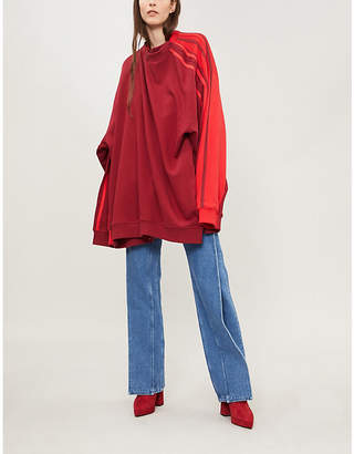 Y/Project Two-tone cotton-jersey sweatshirt