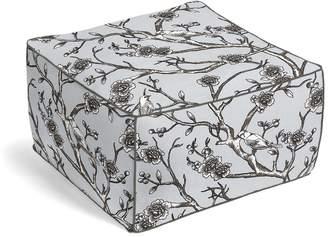 Loom Decor Square Pouf Vintage Blossom - Dove