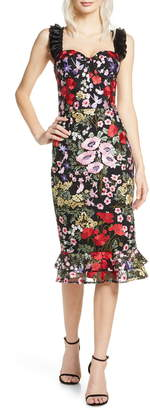 Bronx and Banco Alicia Floral Midi Dress