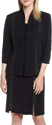 Ming Wang Stud Detail Knit Jacket