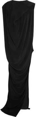 Rick Owens - Nouveau Draped Crepe Maxi Dress - Black $1,270 thestylecure.com