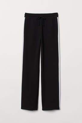 H&M Straight-leg Sweatpants - Black