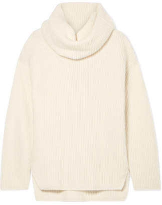 Joseph Ribbed Cashmere Turtleneck Sweater - Ecru