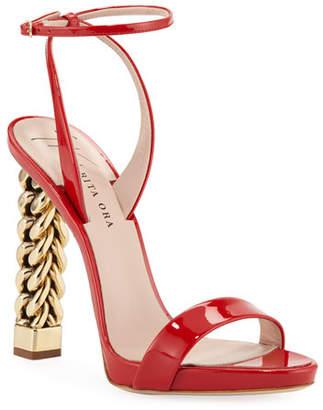 77832ed40270 Giuseppe Zanotti Red Heeled Women s Sandals - ShopStyle