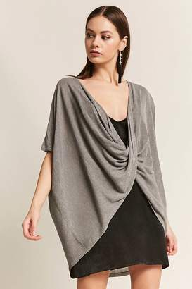 Forever 21 Marled Twist-Front Top