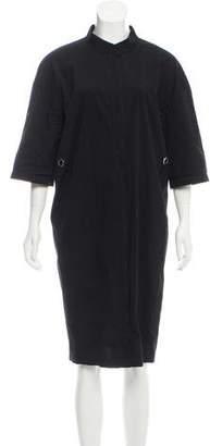 Lafayette 148 Short Sleeve Zip-Up Dress