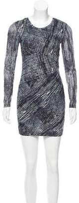 Torn By Ronny Kobo Pleated Printed Mini Dress w/ Tags