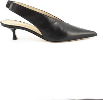 Aldo Castagna Black Leather Lory Pumps