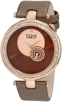 Burgi Women's BU42BR Round Swiss Quartz Dazzling Diamond Watch