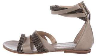 Vic Matié Leather Embellished Sandals
