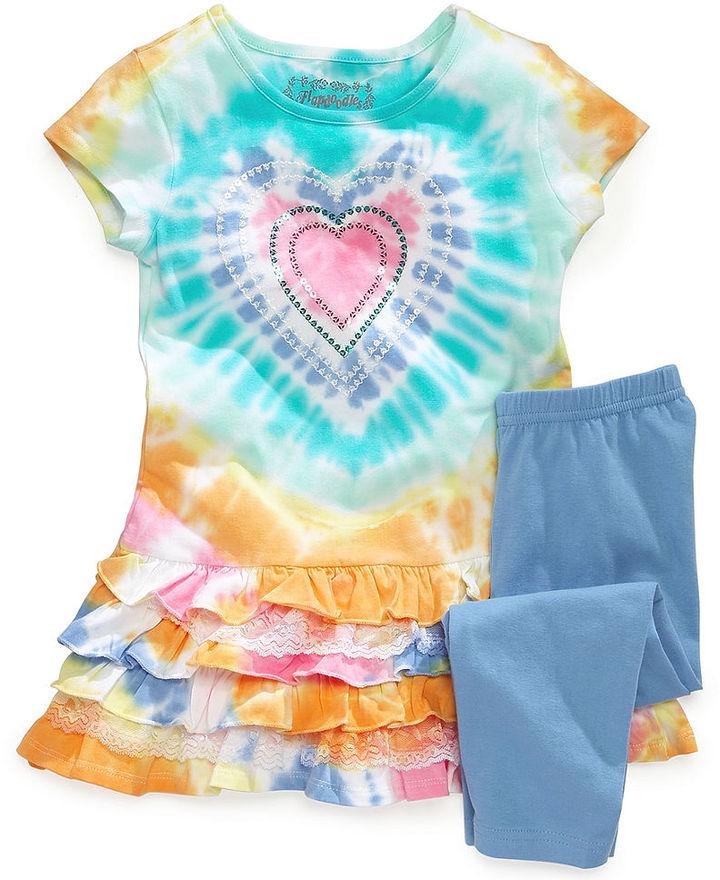 Flapdoodles Little Girls' Tie-Dye Tunic & Leggings Set