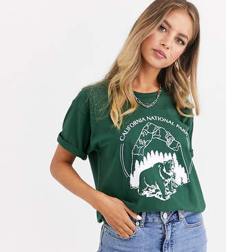 Daisy Street relaxed t-shirt with vintage california national park print