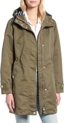 Joules Right as Rain Long Line Hooded Waterproof Raincoat