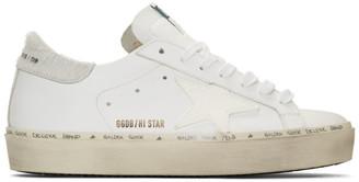 Golden Goose White Pony Hair Hi Star Sneakers
