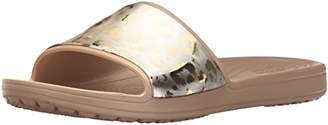 Crocs (クロックス) - [クロックス] シャワーサンダル スローン グラフィック メタリック スライド ウィメン 205133 Gold/Gold US W7(23 cm)
