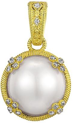 Judith Ripka Sterling & 14K Clad Round Mabe Pearl Enhancer