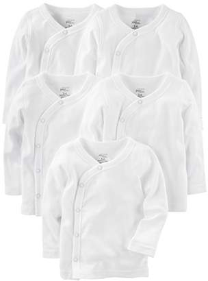 Carter's Simple Joys by Baby 5-Pack Side-Snap Long-Sleeve Shirt