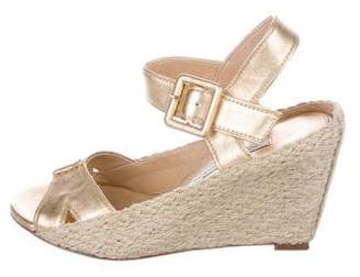 Diane von Furstenberg Leather Espadrille Wedges