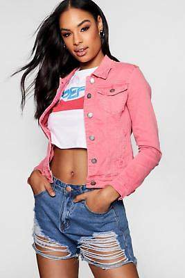 boohoo Womens Laura Cotton Twill Jacket