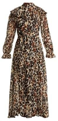 Sonia Rykiel Leopard Print Silk Maxi Dress - Womens - Leopard