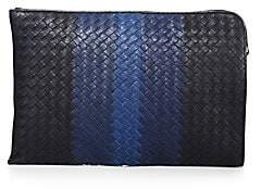 Bottega Veneta Men's Striped Woven Leather Pouch