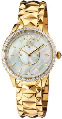 Gevril Gv2 Womens Sienna Swiss Quartz Diamond Bracelet Watch