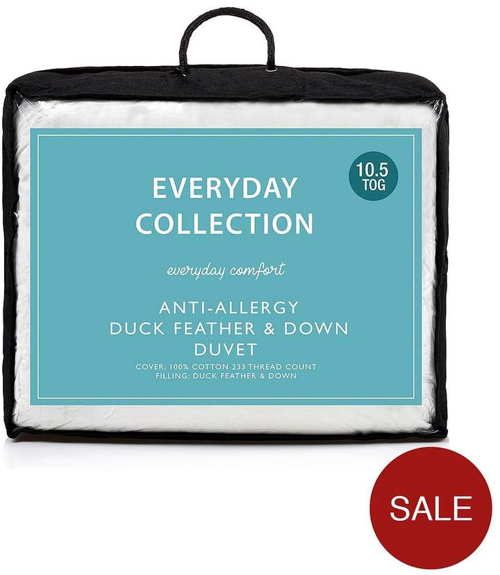 Everyday Collection Anti-Allergy Duck Feather And Down 10.5 Tog Duvet