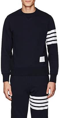Thom Browne Men's Block-Striped Cotton Sweatshirt - Navy