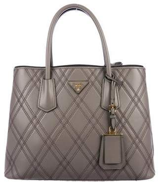 Prada City Calf Quilted Small Double Tote gold City Calf Quilted Small Double Tote