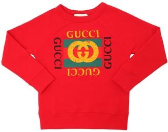 Gucci Logo Print Cotton Sweatshirt