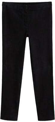 MANGO Slim-fit leather trousers