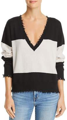 Nation Ltd. Jolie Distressed Color-Block Sweater