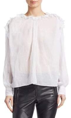 Etoile Isabel Marant Eva Embroidered Cotton Blouse