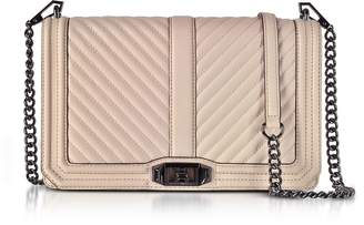 Rebecca Minkoff Nude Chevron Quilted Leather Slim Love Crossbody Bag