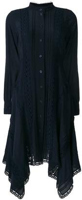 Chloé handkerchief hem shirt dress