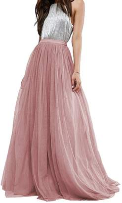9912bb6bd3 Wishopping Womens Long Tutu Tulle Skirt Prom Party Dress Size XL