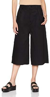Baja East Women's Denim Wide Leg Pant,0