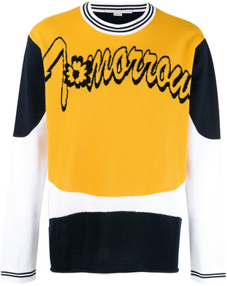 Stella McCartney 'Tomorrow' slogan sweatshirt $955 thestylecure.com